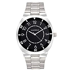 Laurels Polo 3 Analog Black Dial Mens Watch ( Lo-Polo-302)