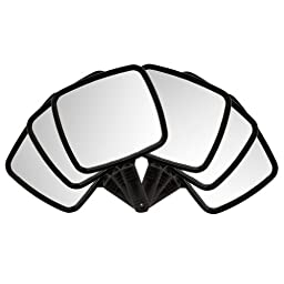 6 Black Large TV Salon Barber Hand Cosmetic Makeup Hair Stylist Mirror\'s 7\