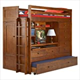 Tradewins Echo Falls Wood Twin over Twin Loft Bunk Bed With Storage Drawers ....