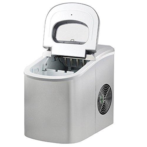 Eiswürfelmaschine Eiswürfelbereiter Automatischer Eis Würfel Maschine Icemaker silber