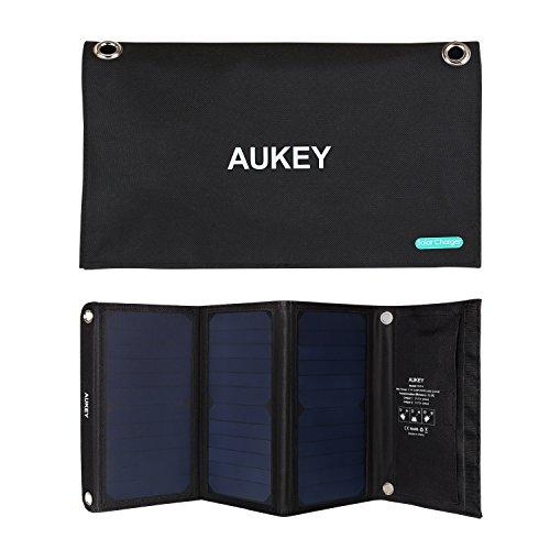 AUKEY Caricabatteria a Energia Solare Pieghevole 21W
