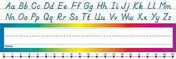 Scholastic Alphabet-Number Line (Modern) Name Plates (TF1529)