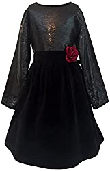 My Pink Closet Girls' 4-5 Years Frock (11a_4-5 Years_Black)