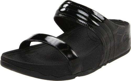 Fitflop Women'S Walkstar Slide Sandal,Black Patent,10 M Us front-417354