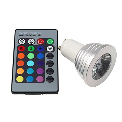 S6Store® 3W Gu10 Rgb 16 Colors Changing Remote Control Holiday Flash Party Led Spot Downlight Christmas