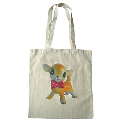 Cute fawn cotton tote shoulder bag
