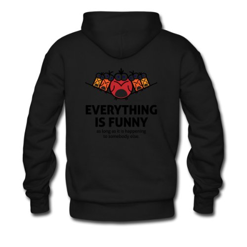 Spreadshirt, Everything Is Funny 3 (dd)++, Men's Hoodie, black, M