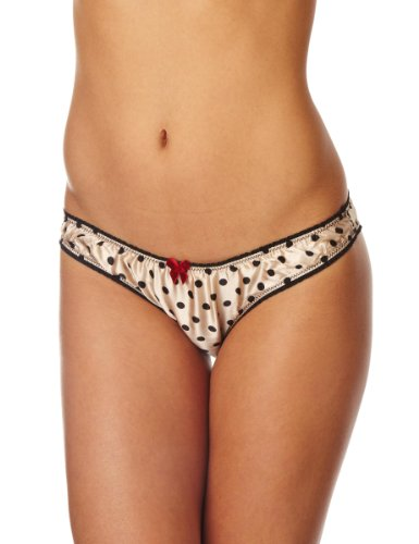 Mimi Holliday Crème Brulee Classic Knicker Women's Knickers Champagne/Black X-Small