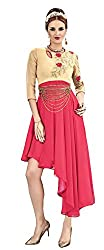 Angroop Womens Georgette Stitched Cut Dress (ANG2016R001)