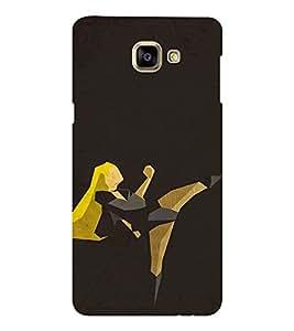 EPICCASE Girl in Action Mobile Back Case Cover For Samsung Galaxy A9 (Designer Case)