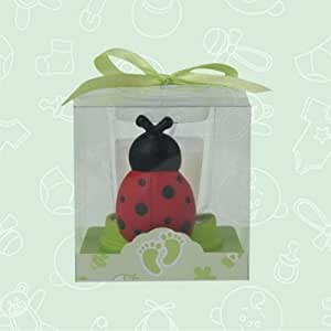 12 baby shower ladybug candle favor in box favors gift