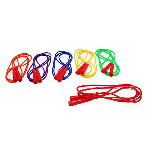 CHAMPION SPORTS SPEED ROPE 7FT RED HANDLE ASSORTED (Set of 24) rga r 981 sports watche red