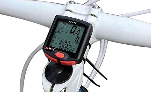 LEMONBEST® Multi Function LCD Bicycle Cycling Computer Odometer Speedometer Waterproof Night Light Stopwatch