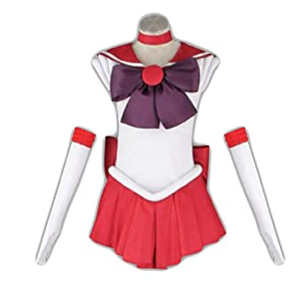 Sailor Moon Cosplay Costume -Sailor Mars Rei Hino 1st Fighting X-Large