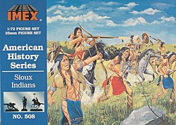 Sioux Indian Figures American History Figures Set 1/72 Imex - 1