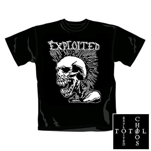 Exploited - T-Shirt Skull (in XL)