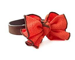 One Tail Four Paws Vintage Ruffle Collar, Small, Rose/Red