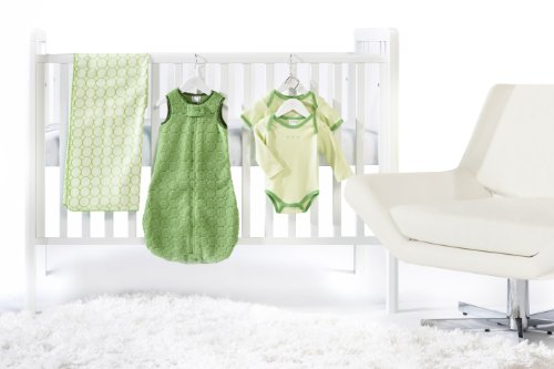SwaddleDesigns 5 Piece Crib Bedding Set, Pure Green, 0-6months