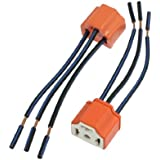 uxcell® 2 x H4 9003 Ceramic Wire Wiring Harness Sockets for Car Headlight