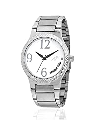 Yepme Men's Chain Watch - White/Silver -- YPMWATCH2684