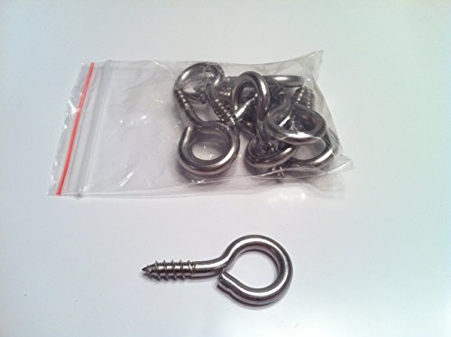 Stainless Steel Eye Bolts (10-Pack) 1-5/8 (Stainless Steel Lag Eye Bolt compare prices)