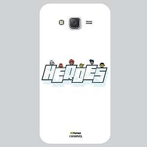 Hamee Original Marvel Character Licensed Designer Cover Slim Fit Plastic Hard Back Case for Samsung Galaxy j7 - 2016 Edition (kawaii superheroes white cover)