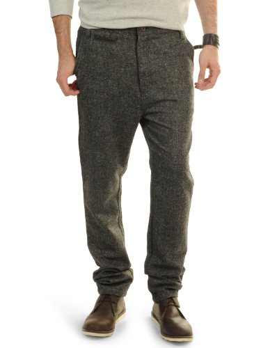 New Anerkjendt Billy Mens Trouser Pant in Caviar Black Grey - 8412622 BNWT (Size W34