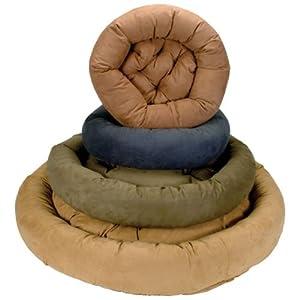Snoozer Luxury Round Bolster Pet Bed, Medium, Olive