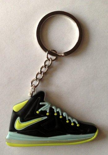 Images for Lebron 10/X Dunkman Atomic Green/Black Miami Heat King James Sneakers Shoes Keychain Keyring AJ 23 Retro Air Jordan