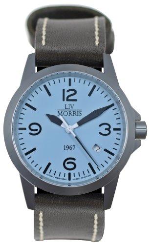 LIV MORRIS 1967 VALBERT No. 1 / LEDER, sportliche Herrenuhr, Ø 42mm, Automatikuhr, massiv Edelstahl, Saphirglas, 10BAR wasserdicht, mechanisches SeaGull-Automatik-Uhrwerk