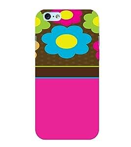 PrintVisa Flower Pattern 3D Hard Polycarbonate Designer Back Case Cover for Apple iPhone 6