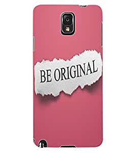 ColourCraft Quote Design Back Case Cover for SAMSUNG GALAXY NOTE 3
