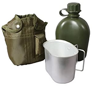 Rothco Canteen / Cup Kit with Cover in Olive Green