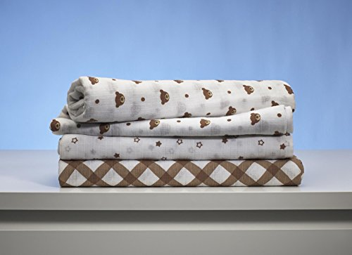 GUND Babygund Fuzzy Collection Swaddle Blankets 40'' By 40'', Fuzzy, 3-pack