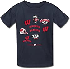 YWT NCAA Wisconsin Badgers Logo Kid39s T-shirts Funny