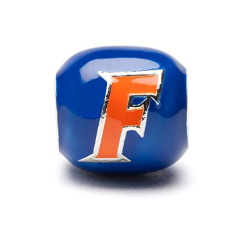 Florida Gators Blue and Orange Block Charm - Fits Pandora