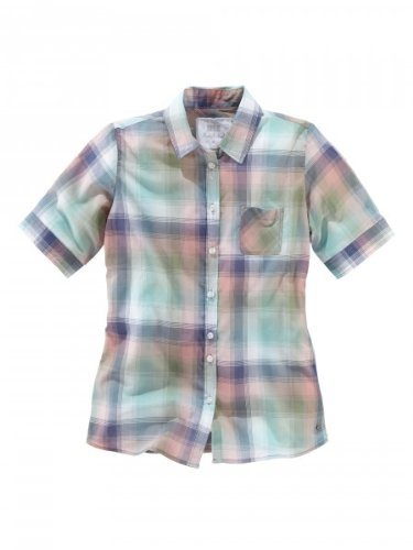 H.I.S Jeans 6550c;light dusty mint /check Bluse 1/2 Arm Karo HIS-121-04-003 XS 511102