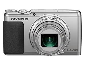 Olympus Stylus SH-50 iHS Digital Camera with 24x Optical Zoom and 3-Inch LCD (Silver)