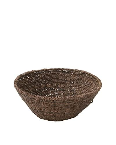 Woodard & Charles 12 Round Fruit Bowl, Brown