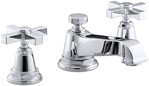 KOHLER K-13132-3A-CP Pinstripe Pure Widespread Lavatory Faucet, Polished Chrome