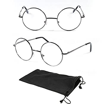 Men And Women Round Plastic Reading Glasses Black & Brown Color Frame
