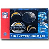 San Diego Chargers 4-in-1 Jewelry Trinket Box at Amazon.com