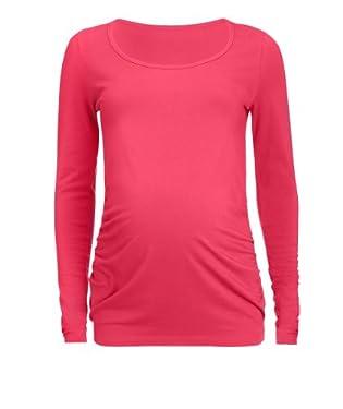 Maternity Long Sleeve T-Shirt - Coral