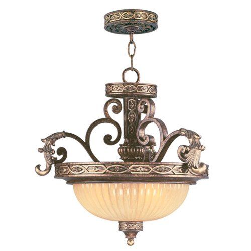 B0028AYO2A Livex Lighting 8547-64 Seville Convertible Chain Hang/Ceiling Mount