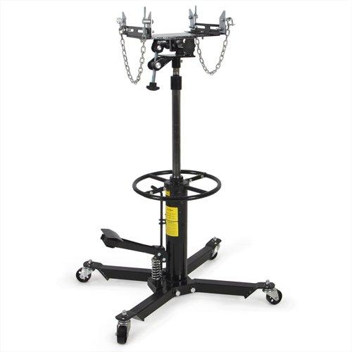 2 Stage 1100Lb Hydraulic Transmission Jack W/ Pedal 360° Swivel Wheel Lift Hoist