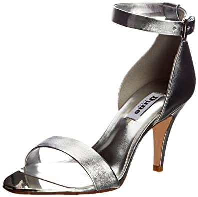 Dune Womens Hunnie Fashion Sandals Silver 6 UK, 39 EU