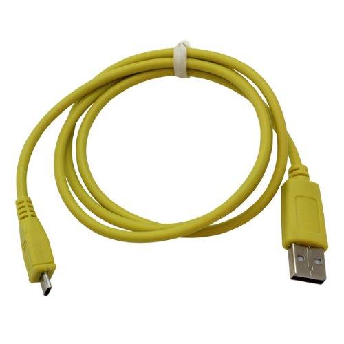 Handycop® Micro USB Datenkabel Gelb für Samsung S7580 Galaxy Trend Plus GT / S8000 Jet / S8300 Ultra TOUCH / S8500 Wave / S8530 Wave II / S8600 Wave 3 / Vodafone 360 H1 / Vodafone 360 M1