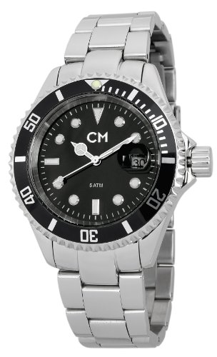 Carlo Monti Varese Men's Quartz Watch with Black Dial Analogue Display and Silver Stainless Steel Bracelet CM507-121A