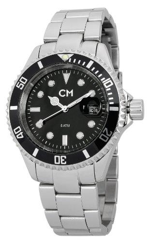 Carlo Monti CM507-121A - Reloj analógico de cuarzo para hombre con correa de acero inoxidable, color plateado