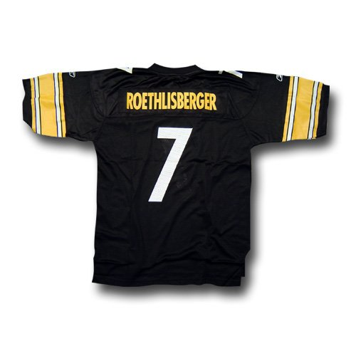 Reebok Pittsburgh Steelers Ben Roethlisberger Replica Jersey Medium